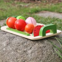9 piece Wooden Fruit play set