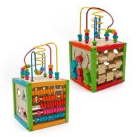 Large Wooden 5 in 1 Multi-Activity Cube