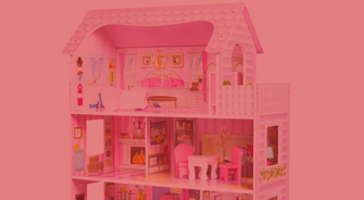 Childrens Wooden Dolls House